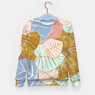 Thumbnail image of Floral Gold Kid's sweater, Live Heroes