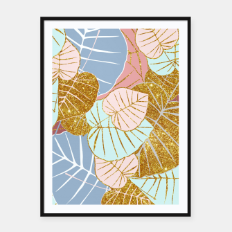 Thumbnail image of Floral Gold Framed poster, Live Heroes