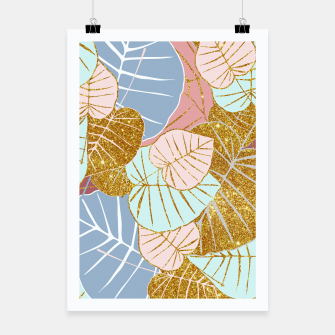 Thumbnail image of Floral Gold Poster, Live Heroes