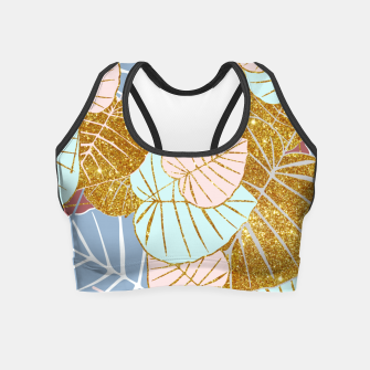 Thumbnail image of Floral Gold Crop Top, Live Heroes