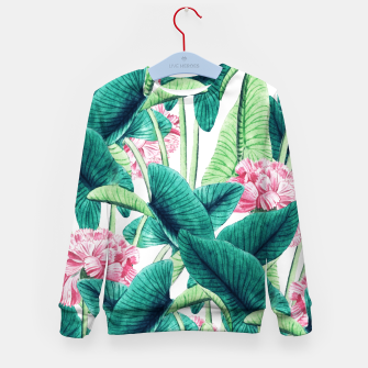 Miniatur Lovely Botanical Kid's sweater, Live Heroes