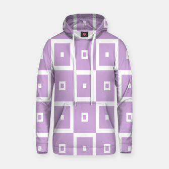 Thumbnail image of Abstract geometric pattern - purple and white. Cotton hoodie, Live Heroes