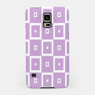 Thumbnail image of Abstract geometric pattern - purple and white. Samsung Case, Live Heroes