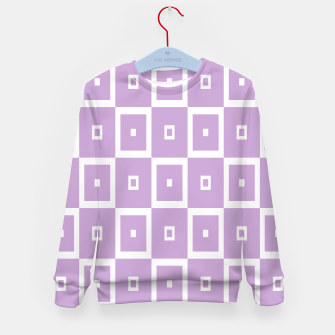 Thumbnail image of Abstract geometric pattern - purple and white. Kid's sweater, Live Heroes