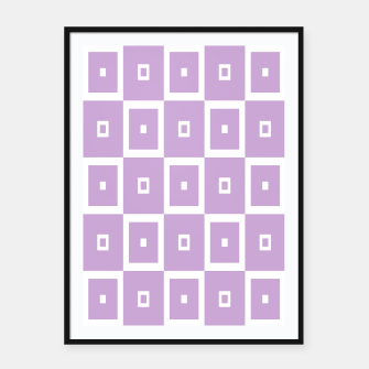 Thumbnail image of Abstract geometric pattern - purple and white. Framed poster, Live Heroes