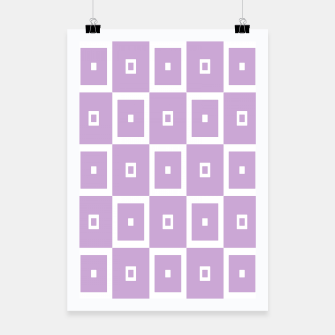 Thumbnail image of Abstract geometric pattern - purple and white. Poster, Live Heroes