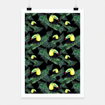 Thumbnail image of Toucans and Tropical Leaves Pattern Poster, Live Heroes