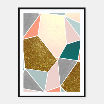 Thumbnail image of Geometric Framed poster, Live Heroes