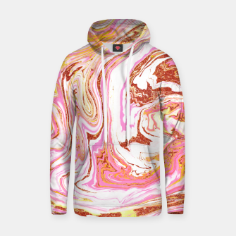 Thumbnail image of Marble + Rose Gold Dust Cotton hoodie, Live Heroes