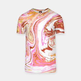 Thumbnail image of Marble + Rose Gold Dust T-shirt, Live Heroes