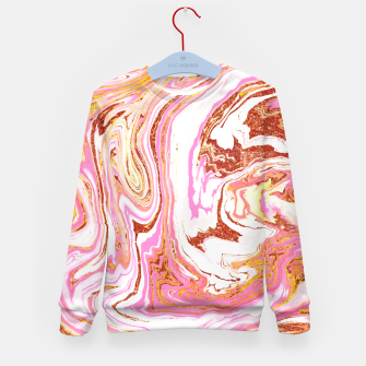 Thumbnail image of Marble + Rose Gold Dust Kid's sweater, Live Heroes