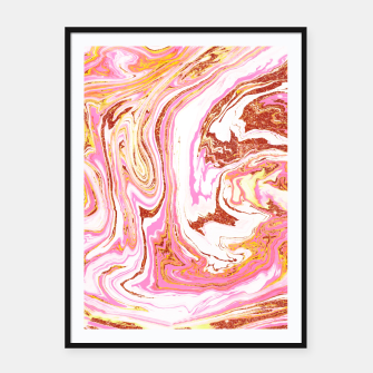 Thumbnail image of Marble + Rose Gold Dust Framed poster, Live Heroes