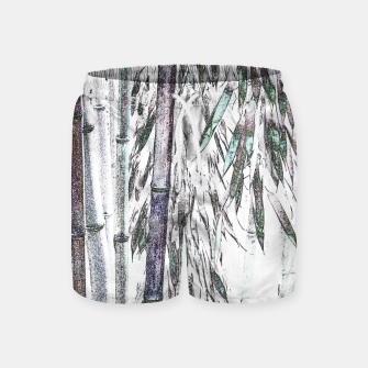 Thumbnail image of Bamboo Forest  Swim Shorts, Live Heroes