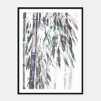 Thumbnail image of Bamboo Forest  Framed poster, Live Heroes