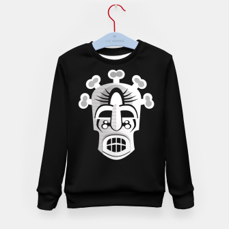 Thumbnail image of Tribal Ancient Skull Mask Kid's sweater, Live Heroes