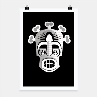 Thumbnail image of Tribal Ancient Skull Mask Poster, Live Heroes
