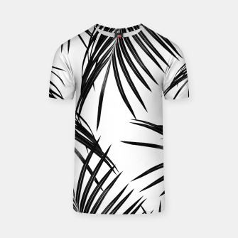 Thumbnail image of Black Palm Leaves Dream #1 #tropical #decor #art T-Shirt, Live Heroes