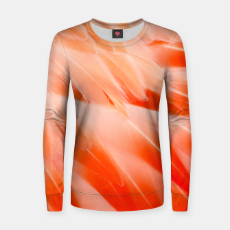 Thumbnail image of Pink Flamingo Feathers Woman cotton sweater, Live Heroes
