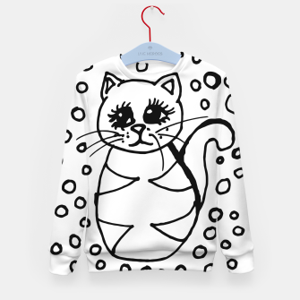 Thumbnail image of Cute Fluffy Cat Points Kid's sweater, Live Heroes