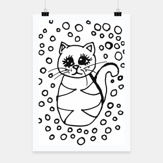 Thumbnail image of Cute Fluffy Cat Points Poster, Live Heroes