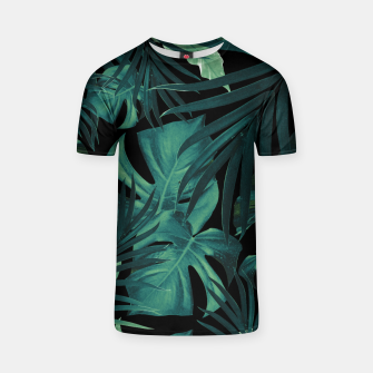 Thumbnail image of Tropical Jungle Night Leaves Pattern #1 #tropical #decor #art T-Shirt, Live Heroes