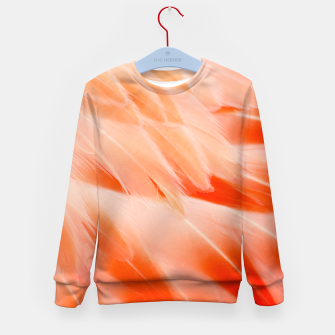 Thumbnail image of Pink Flamingo Feathers Kid's sweater, Live Heroes