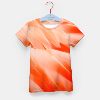 Thumbnail image of Pink Flamingo Feathers Kid's t-shirt, Live Heroes