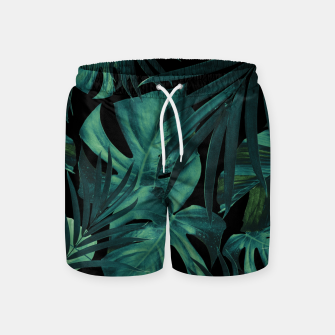 Thumbnail image of Tropical Jungle Night Leaves Pattern #1 #tropical #decor #art Badeshorts, Live Heroes