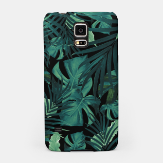 Thumbnail image of Tropical Jungle Night Leaves Pattern #1 #tropical #decor #art Handyhülle für Samsung, Live Heroes