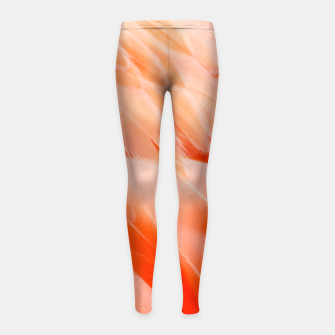 Thumbnail image of Pink Flamingo Feathers Girl's leggings, Live Heroes
