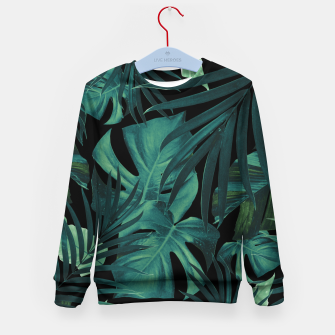 Thumbnail image of Tropical Jungle Night Leaves Pattern #1 #tropical #decor #art Kindersweatshirt, Live Heroes