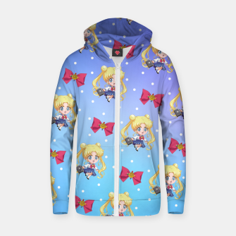 Chibi Usagi Cotton zip up hoodie obraz miniatury