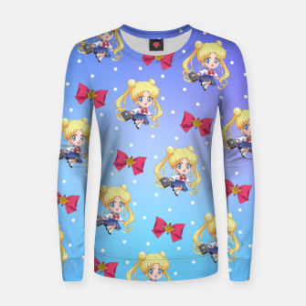 Chibi Usagi Woman cotton sweater obraz miniatury
