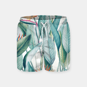 Thumbnail image of Back to Paradise Island Swim Shorts, Live Heroes