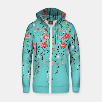 Miniaturka Floral Dilemma Cotton zip up hoodie, Live Heroes