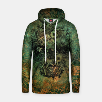 Thumbnail image of Floral Skull Skin Cotton hoodie, Live Heroes