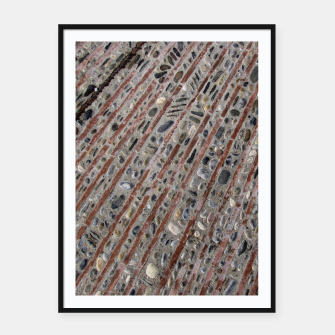 Thumbnail image of Stone Mosaic Stripes Framed poster, Live Heroes