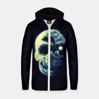 Thumbnail image of Death Wave Cotton zip up hoodie, Live Heroes