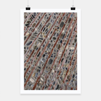 Thumbnail image of Stone Mosaic Stripes Poster, Live Heroes