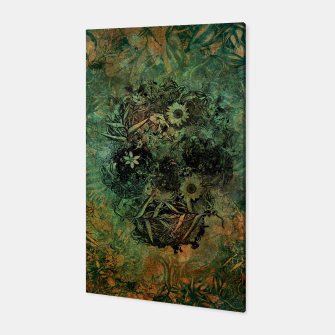 Thumbnail image of Floral Skull Skin Canvas, Live Heroes