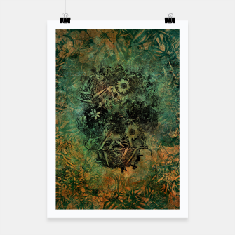 Thumbnail image of Floral Skull Skin Poster, Live Heroes