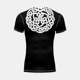 Thumbnail image of Celtic Mythology Viking Ornament Shortsleeve rashguard, Live Heroes