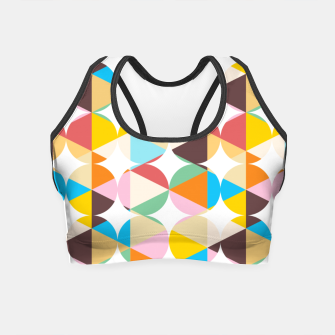 Thumbnail image of Retro Geometry Crop Top, Live Heroes
