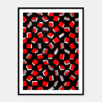 Thumbnail image of Polka Dot Books Pattern Framed poster, Live Heroes