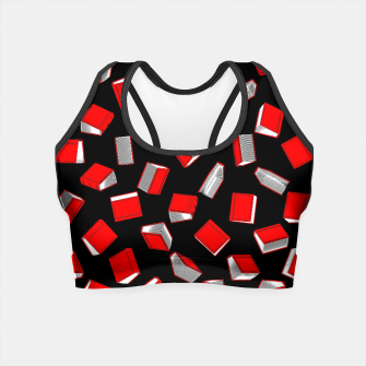 Thumbnail image of Polka Dot Books Pattern Crop Top, Live Heroes