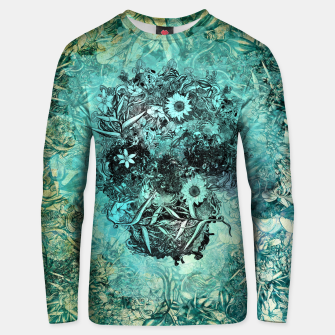 Thumbnail image of Floral Skull Blue Cotton sweater, Live Heroes