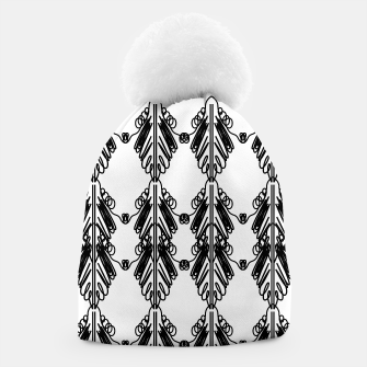 Miniatur Luxury beanie black-white Ornaments , Live Heroes