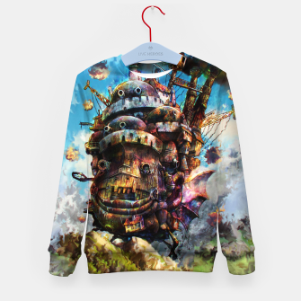 Miniatur howl's moving castle Kid's sweater, Live Heroes