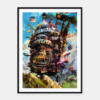 Miniature de image de howl's moving castle Framed poster, Live Heroes