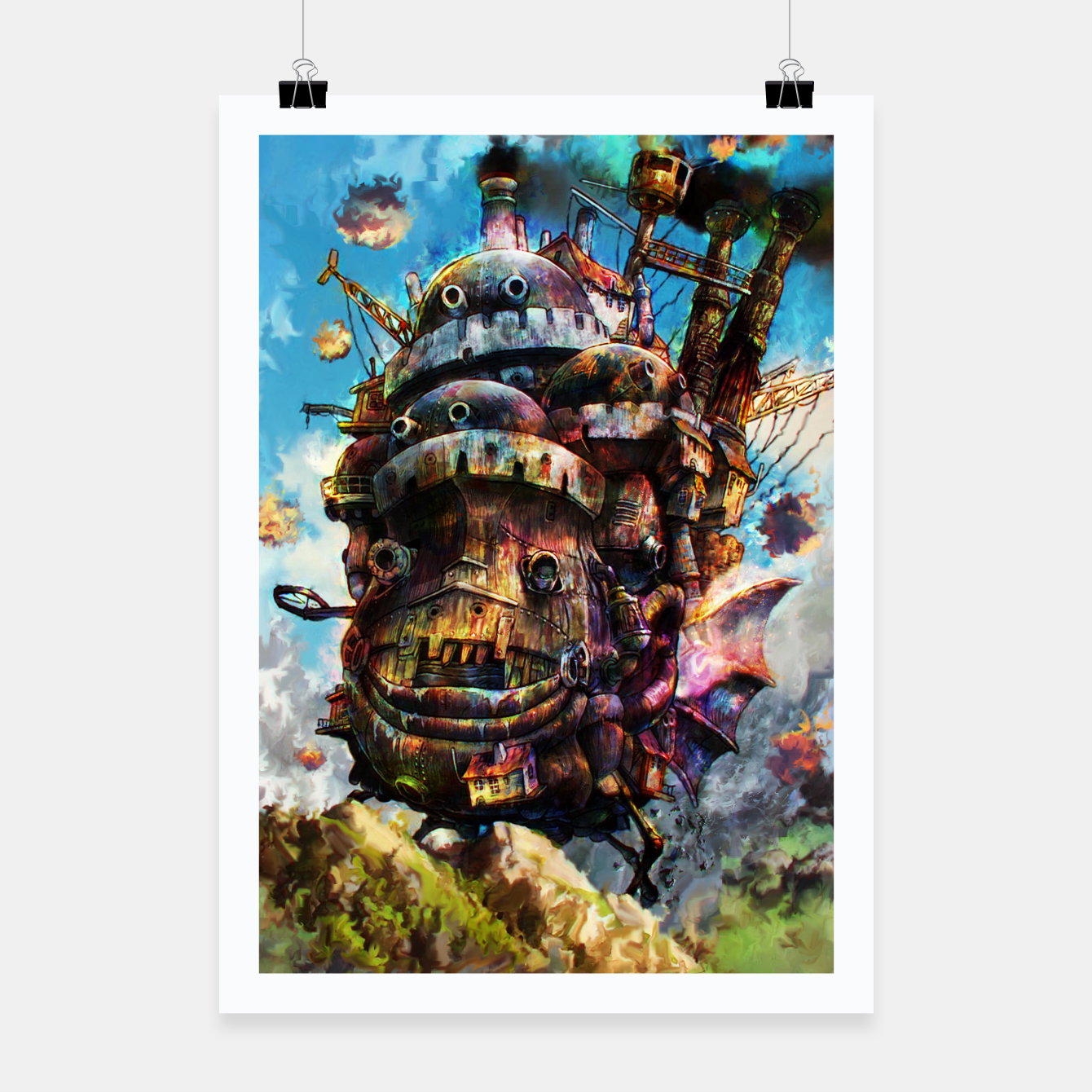 Zdjęcie howl's moving castle Poster - Live Heroes